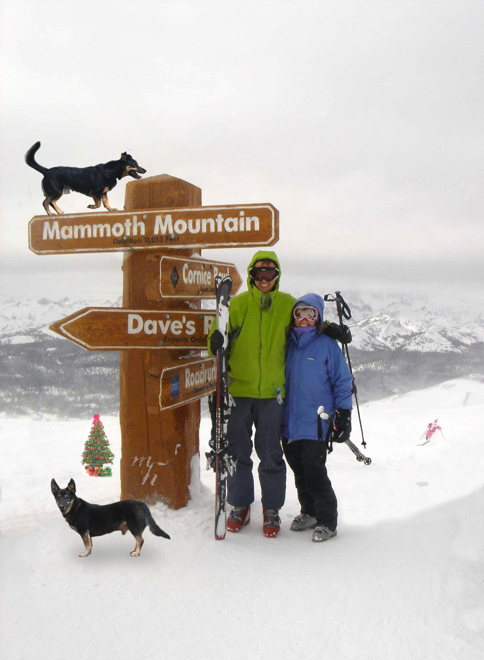 Mick West and Holly West, top of Mammoth